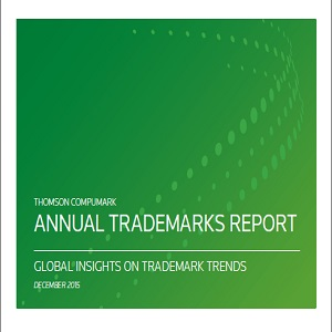 Annual Trademarks Report Thomson CompuMark 2015 - front cover