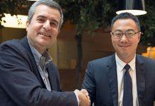 Luca Crisciotti, CEO di DNV GL - Business Assurance e Sunny Lu, CEO di VeChain