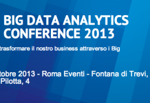 BIG DATA ANALYTICS CONFERENCE 2013