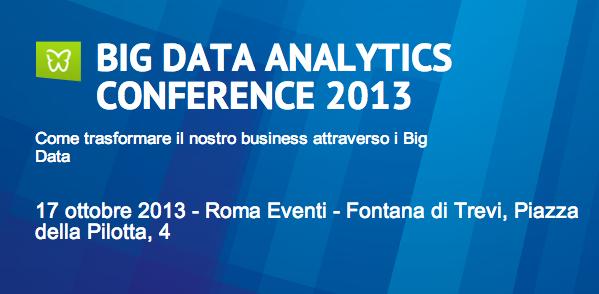 BIG DATA ANALYTICS CONFERENCE 2013