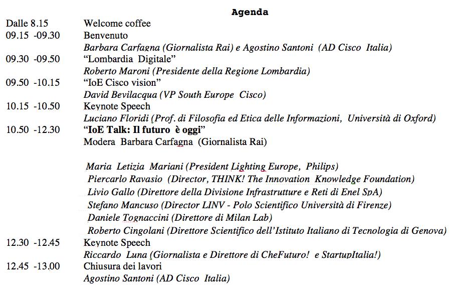 Agenda Cisco