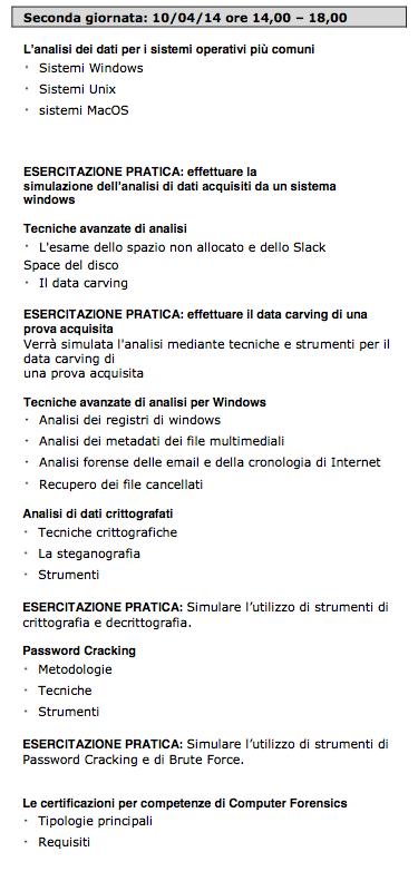 Agenda corso 2