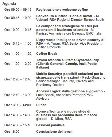 RSA Security Summit Agenda