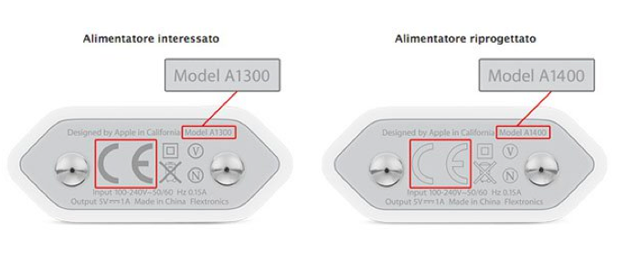 Apple caricabatterie difettosi