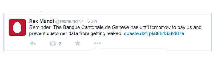 Banca cantonale Ginevra hacker