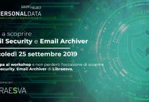 Settembre mese della sicurezza con i workshop Personal Data
