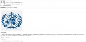 Phishing: attenzione alle false email provenienti dall'OMS
