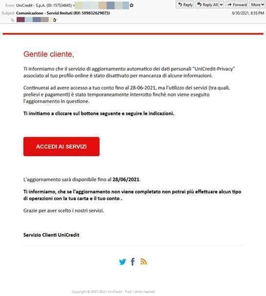 campagna di phishing