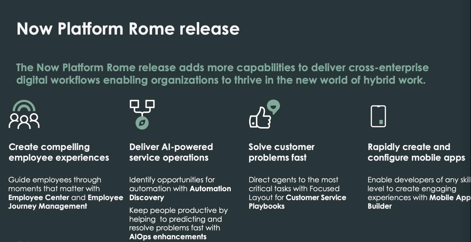 Service Now lancia la nuova release Rome della Now Platform Rome