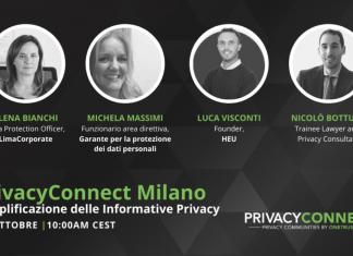 PrivacyConnect Milano: webinar gratuito il 26 ottobre